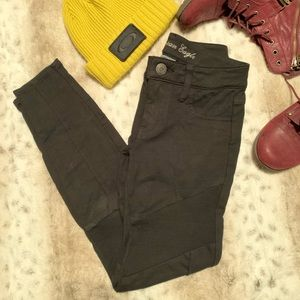 AEO Black Panel Jeggings